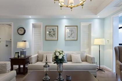 200㎡清新蓝绿的美式龙8国际龙88,温馨三居室,是家的感觉